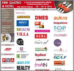 Mediální partnerství veletrhu FOR GASTRO&HOTEL 2