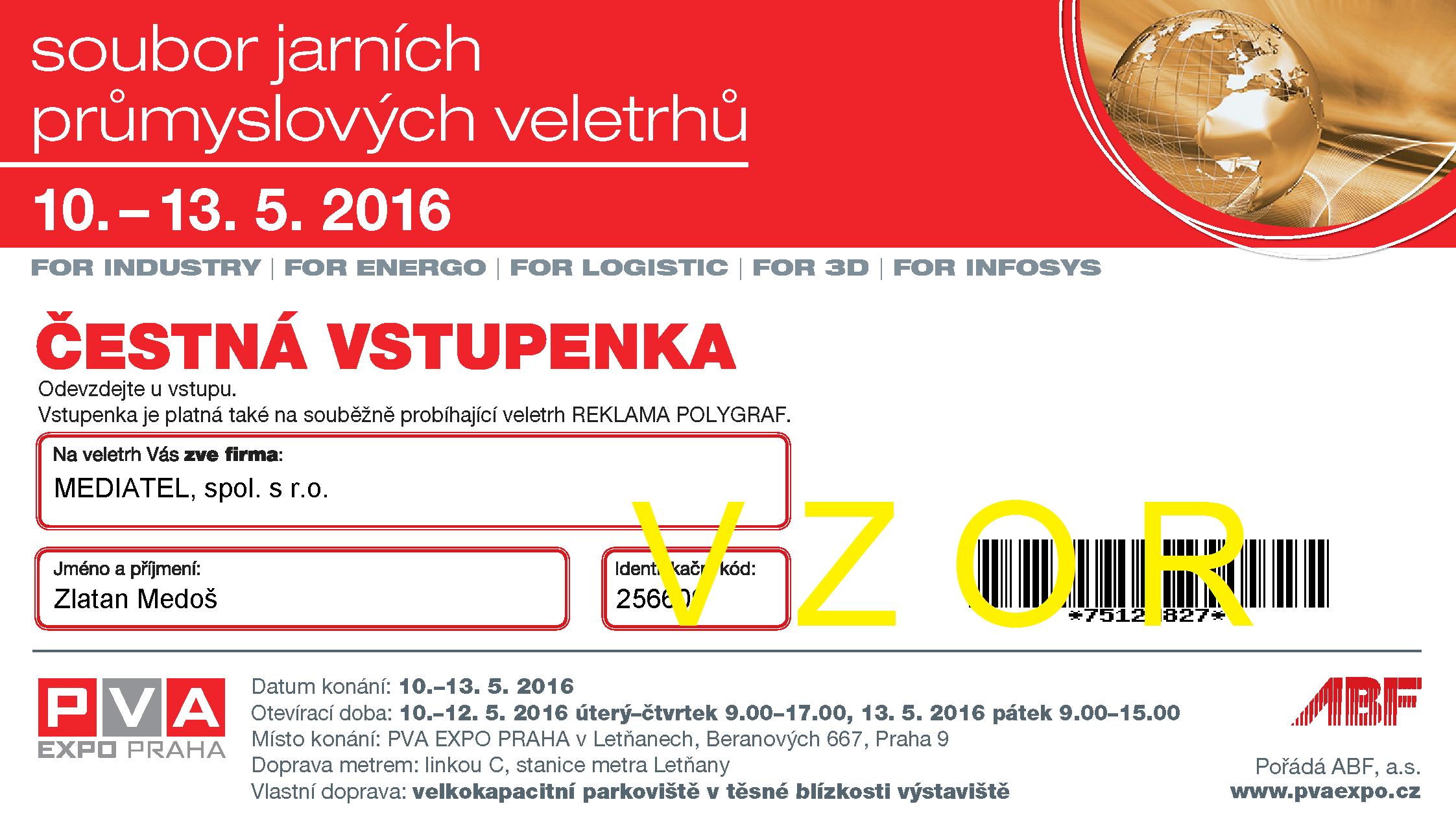 FOR_LOGISTIC_Čestná_vstupenka_MEDIATEL