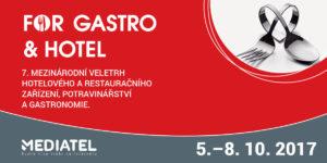 Zveme vás na 7. ročník mezinárodního veletrhu FOR GASTRO & HOTEL 2017